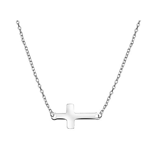 SOFIA MILANI Damen Kette Halskette Kreuz Anhänger Quer Silber 50088