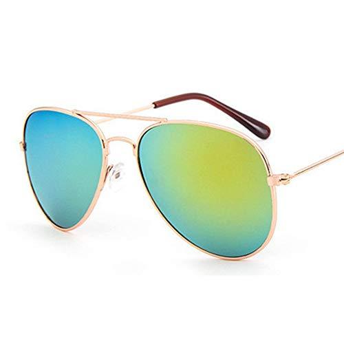 QDE Sonnenbrillen Jungen Kinder Sonnenbrillen Aviator Style Kinder Sonnenbrille 100% Uv-Schutz, C.