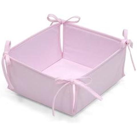 Cambrass Liso E - Canastilla acolchada, color rosa