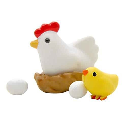 STOBOK Ostern Küken Hühnerei Ornamente Hängen Huhn Anhänger Dekor für Home Shop Büro 16 stücke