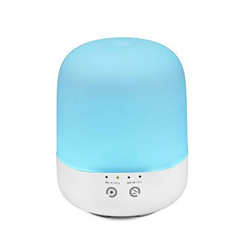 LEDemain Umidificatore Ultrasuoni 300ml Diffusore di Aromi Vaporizzatore Silenzioso Purificatore d'aria con Timer e Vapore Regolabile 7 Colori LED