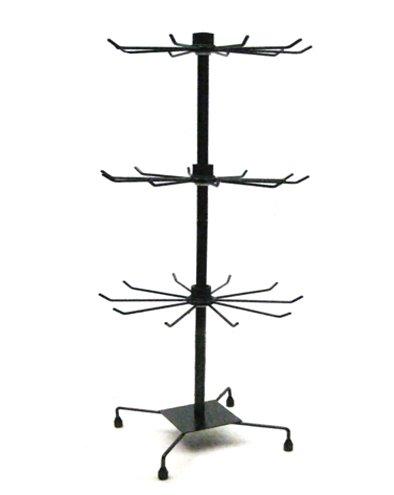 Yudu® Verkaufsständer mit 3 Etage, Metall, 73 cm schwarz