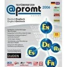 @promt Expert 2006 Deutsch - Englisch / Englisch - Deutsch. CD-ROM für Windows 98, Me, NT(mit SP6); 2000, XP: Übersetzung von DOC, RTF, TXT, HTML, XML, PDF-Dokumente, E-Mails, Internetseiten, Tiff und JPG Dateien. DUDEN Rechtschreib- und Grammatikprüfung. Erstellen und bearbeiten von Wörterbüchern. Einbindung in MS Office, Acrobat und Explorer, Associated Memory, Stapelübersetzungen, Terminologie-Extraktion, Integration in TRADOS, Lingusitischer Texteditor. Fachwörterbücher Fachwörterbüchern Business, Jura, Software, Internet, Reisen, Sport, Auto, Kino, Kochkunst, Musik, Geschichte, Haushaltstechnik, Technik, Politik, Kunst, Religion, Medizin und Soziologie, integrierte OCR. 800.000 Wörter und Wendungen. Länderspezifische Sprachvarianten. Import von Wörterbüchern