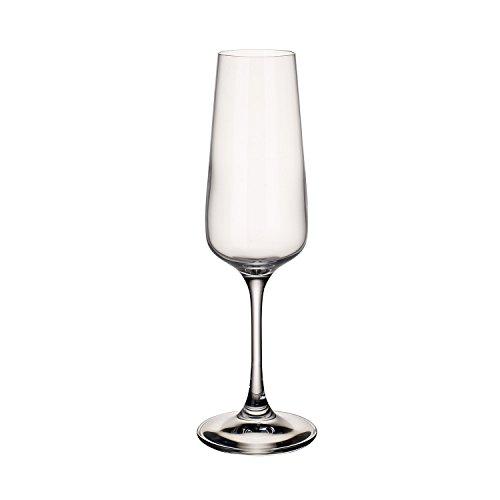 Villeroy & Boch Ovid Sektgläser, 4er-Set, 250 ml, Kristallglas, Klar