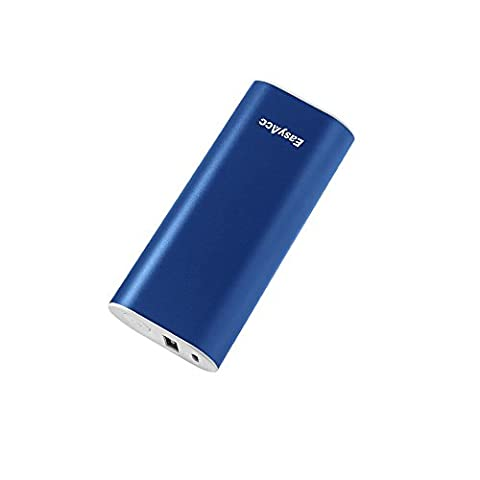 EasyAcc Metal 6700mAh Power Bank Bar External Battery Pack Portable Charger for iPhone Plus 6 5S Samsung S6 Edge Smartphones - Mazarine Blue