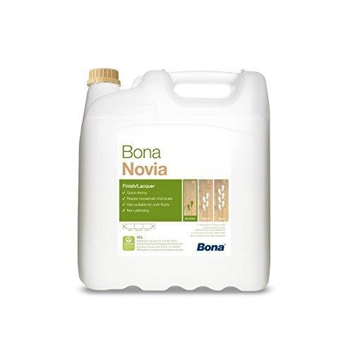 Bona Novia Parkettlack - halbmatt - 10 Liter - Versiegelung, 1 K Parkettlack, Wasserlack