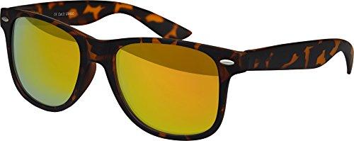 Balinco Hochwertige Nerd Sonnenbrille Rubber Retro Vintage Unisex Brille mit Federscharnier - 101...