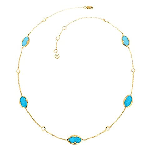 Missoma 18ct Gold Plated Bisous Turquoise Doublet Strand