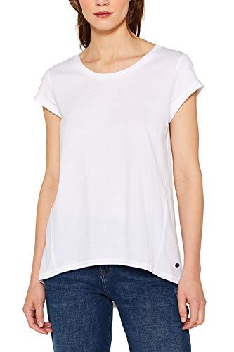 edc by ESPRIT Damen 059Cc1K002 T-Shirt, Weiß (White 100), Large (Herstellergröße: L)