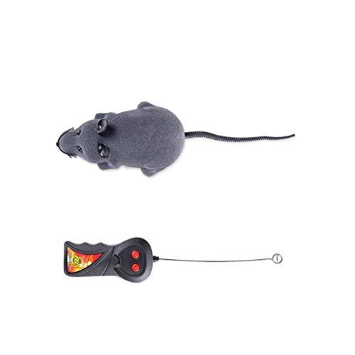 ZHANGAIGUO Funkmaus mit Fernbedienung, für Katzen und Hunde, Schwarz