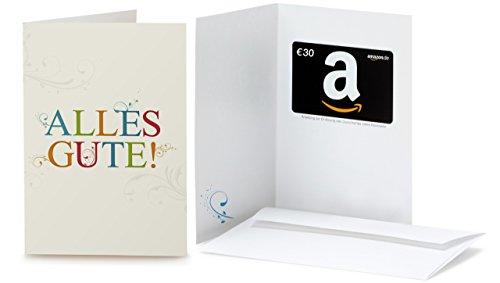 Amazon.de Geschenkkarte in Grußkarte - 30 EUR (Alles Gute)
