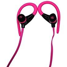 Auriculares Bluetooth 4.2, Auriculares Inalámbricos In Ear con Micrófono Cascos Bluetooth con Sonido Estéreo Llamadas a Manos Libres para iPhone, Samsung, Sony, HUAWEI (ROSA)
