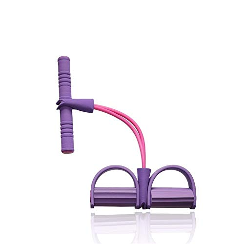 ZRDY 2Resistance Elastico Tirare Funi Ginnico Vogatore Belly Band Resistance Band Home Gym Sport Training Elastici for Attrezzi Fitness (Color : Purple)