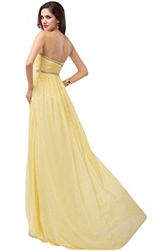 Sunvary uno Chiffon spalla elegante Bridesmaid Pageant, decorazioni varie Bianco