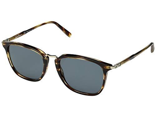 Salvatore ferragamo men's sf910sm striped brown/solid blue one size