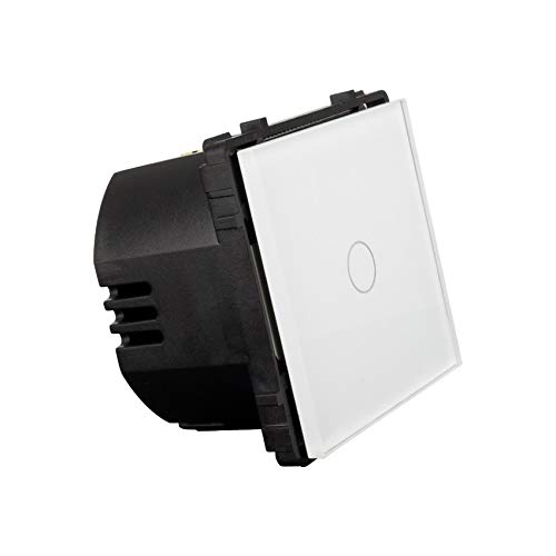Interruptor Táctil Simple Conmutado Remoto Blanco efectoLED
