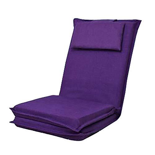 JFFFFWI Boden Stuhl Lange rückenlehne faul Couch Faltbare Japanisches Bett Einzel Sofa zurück Fenster Stuhl (Farbe: A) -