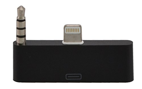 VAPIAO 30 zu 8 Pin Audioadapter für Das iPhone 5, 5c und 5s Zum Verbinden vom Alten mit Dem Neuen iPhone-Anschluss 30 zu 8 mit Audio/Ideal für Audioübertragung/iOS 11 in Schwarz