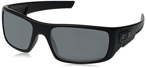 Oakley Herren Sonnenbrille Crankshaft Matte Black Iridium Polarized, 60