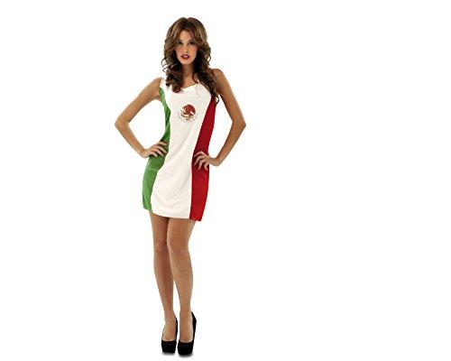 Imagen de my other me  disfraz de bandera mejicana, talla m l viving costumes mom01084