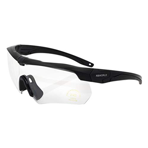 iCerber sonnenbrillen Chic Lässig Einzigartig Rockbros Radfahren Outdoor-Sportbrillen Fahrrad polarisierte Brille Sonnenbrille 3 Objektiv UV 400 ❀❀2019 Neu❀❀(transparent)