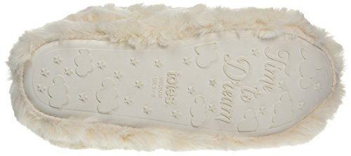 Totes Fluufy Bootie Slippers, Pantofole a Stivaletto Donna Avorio (Cream)