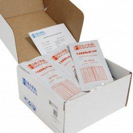 La boite de 25 Sachets étalonnage EC 12.88mS/cm - 25x20ml + certificat - Hanna