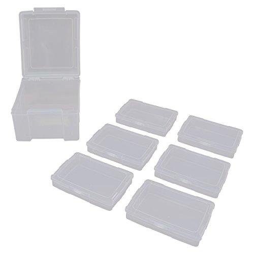 Advantus Fotoaufbewahrungsbox mit 6einzelnen Klarsicht-Fotoschachteln, für bis zu 600Fotos (61989), farblos, Single Photo Keeper Box