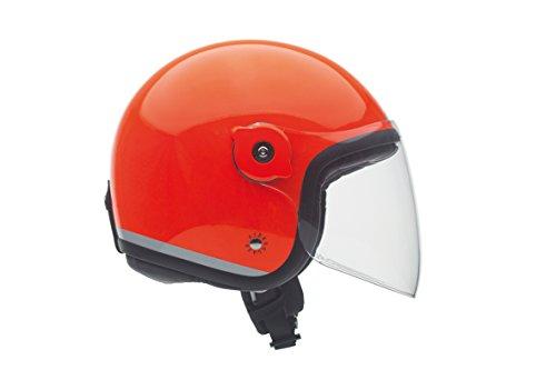 Tucano Urbano - Casco in Fibra di Vetro con Doppio Rivestimento con o Senza Visiera, Arancione, XL1