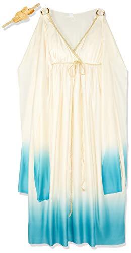 Unbekannt Fun World 5778pfw Plus Griechische Göttin weiß & blau Kostüm (Göttin Für Erwachsenen Plus Kostüm)