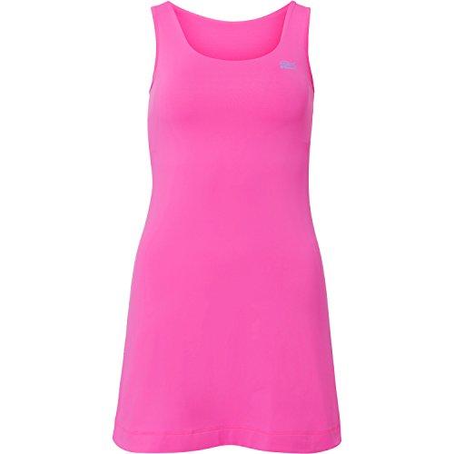 Sportkind Mädchen & Damen Tennis / Hockey / Golf Trägerkleid, neon pink, Gr. 140