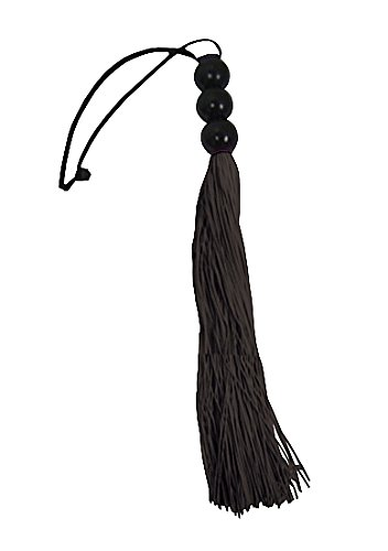 Sex & Mischief Small Rubber Whip - Black 10 inch, 1er Pack