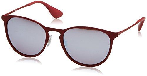 RAYBAN Unisex-Erwachsene Sonnenbrille 0RB3539 9023B5, Rot (Rubber Bordo/Bordolightflashgrey), - In Ray-ban-brillen-made Italy
