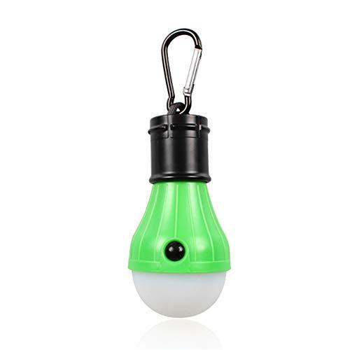 Grüne Led Mini-leuchten (DFKLLL-Leuchten, Camping-Außenleuchten, Tragbare LED-Zeltleuchten Mit Haken, Mini-Campingleuchten, Kleine Dimmbare Hängelampen (Grün))