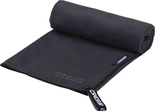 Cressi Microfibre Fast Drying Toalla de Sport, Unisex Adulto, Negro, 60x120cm