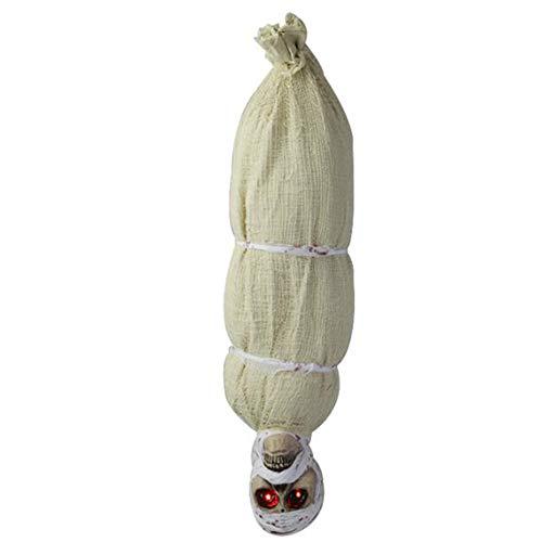 LOVEWO Barraum, Haunted Haus Dekoration Requisiten, Länge 80Cm * Breite 20Cm Mumie Hang Ghost Devil Kopf Tod