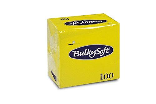 Bulky Soft BS-32229 Servietten 1/4 Falz, 2-lagig, 24 cm x 24 cm, Limone (100-er Pack)