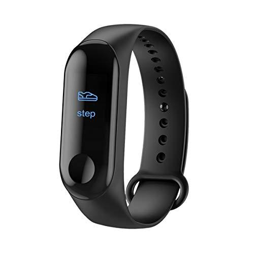 WNFDH Intelligente Uhr Smart Watch Männer Frauen Pulsmesser Blutdruck Fitness Tracker Sport Smart Clock Uhr für iOS Android, Schwarz, China