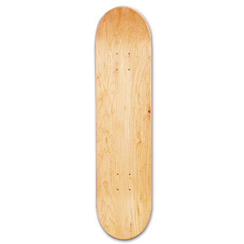 """globalqi Blank Skateboard Deck für DIY, natürliche Holz selbst anpassbare Skateboard, 8 Schichten chinesischen Ahorn BAU, Double Kick konkav, 7,4\""""× 31\"""""""