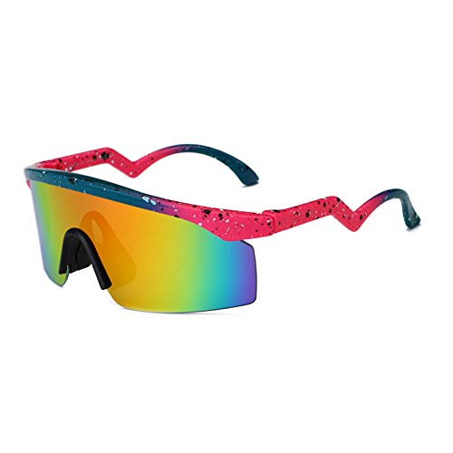 Siwen Neue Winddichte Sonnenbrille Frauen Spiegel Beschichtung reflektierende Shades männlich Fahren Sonnenbrille,Spot Red Mirror