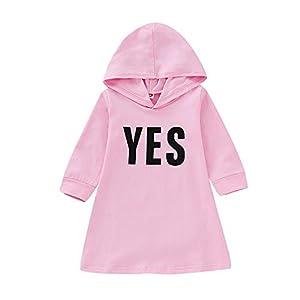 catmoew Baby Mädchen Kleidung (12M-4T) Winter Kind Lange Ärmel Brief Mit Kapuze Top Kinder Pullover Sweatshirts Zur Seite Fahren Kleid Outfits Baby kinderkleidung