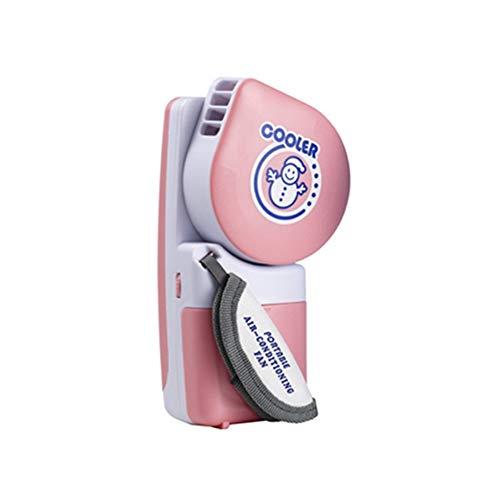 NN-xUE Mini-Lüfter, handlicher Kühler Kleiner, blattloser Lüfter Mini-Klimaanlage Tragbarer drehzahlverstellbarer Lüfter, der mit Batterien oder USB-Aktivitäten im Freien betrieben Wird,Pink - Akku-betrieb-stromversorgung
