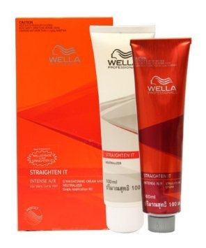 1 BOX OF WELLA STRATE WELLASTRATE INTENSE STRAIGHTENER STRAIGHTENING HAIR CREAM