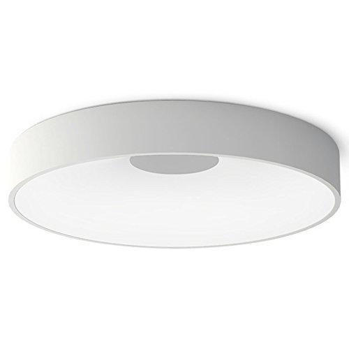 HBA LED Deckenleuchte Runde wasserdicht IP 44 1650 LM Deckenleuchte Weiß für Bad, Küche, Schlafzimmer, Diele, Flur, Balkon, Wohnzimmer (Farbe: weiß, Größe: Versprechen dimmen -57.5 cm)