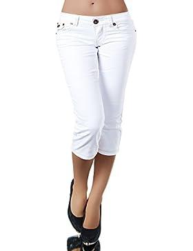 K900 Capri Pantaloni Jeans da Donna, Jeans Capri Pantaloni Capri Jeans Bermuda spessore cuciture.
