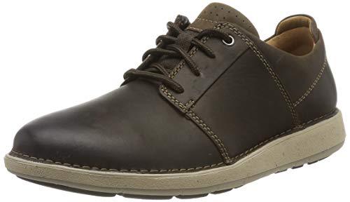 Clarks Un Larvik Lace, Zapatos de Cordones Derby para Hombre, Piel marrón marrón, 43 EU