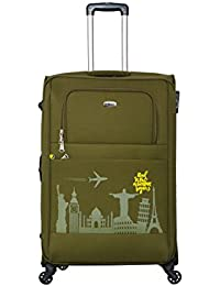 Timus Salsa Military Green 75 Cm 4 Wheel Strolley Suitcase For Travel (Large Check In Luggage)