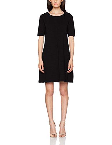 Vila Damen Kleid Vicaro A-Shape Jersey Dress-fav, Schwarz Black, 40 (Herstellergröße: L)