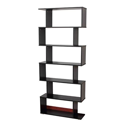 Homcom® Regal Standregal Bücherregal Raumteiler (Schwarz)