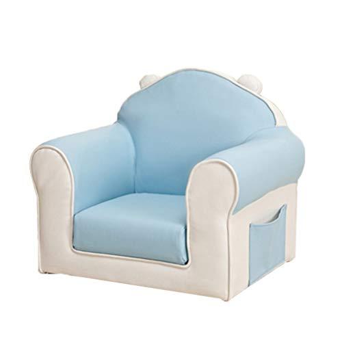 Canapés Fauteuils Rembourrés pour Enfants en Bois Massif Childs Chair Toddler Fauteuil Garçons Chambre Meubles (Color : Blue, Size : 22.05 * 16.14 * 19.29in)